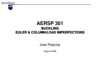 AERSP 301 BUCKLING EULER & COLUMN/LOAD IMPERFECTIONS