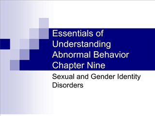 Essentials of Understanding Abnormal Behavior Chapter Nine