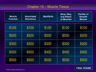 Chapter 10 – Muscle Tissue