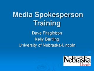 Media Spokesperson Training