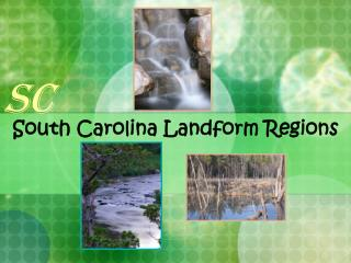 South Carolina Landform Regions
