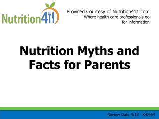 Nutrition Myths and Facts for Parents