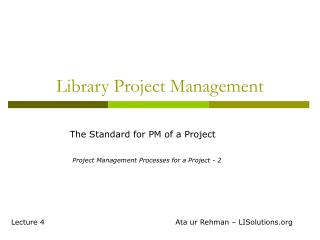 Library Project Management