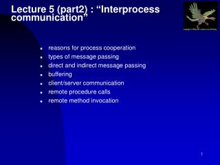 "Lecture 5 (part2) : ""Interprocess communication"""