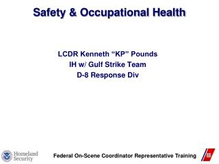Safety & Occupational Health