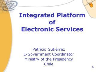 Integrated Platform  of  Electronic Services