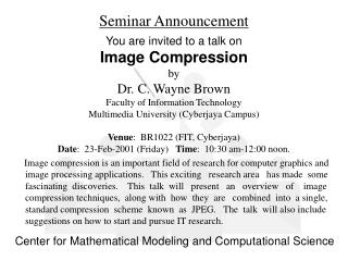 Seminar Announcement