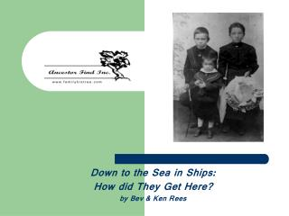 Down to the Sea in Ships:  How did They Get Here? by Bev & Ken Rees
