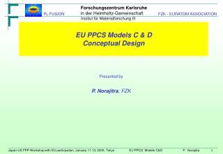 EU PPCS Models C & D Conceptual Design