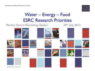 Water – Energy – Food  ESRC Research Priorities