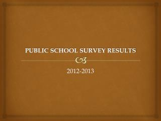 PUBLIC SCHOOL SURVEY RESULTS