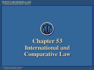 Chapter 53 International and  Comparative Law
