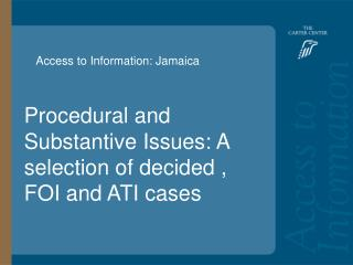 Access to Information: