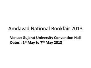 Amdavad National Bookfair 2013
