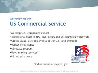 Working with the US Commercial Service
