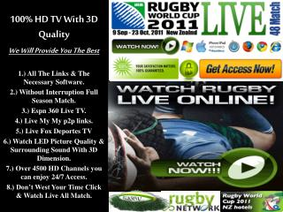 All Black vs Wallabies,Live Streaming RWC Semi Final Match {