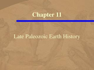 Late Paleozoic Earth History
