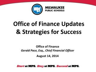 Office of Finance Updates & Strategies for Success