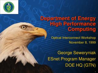 Department of Energy  High Performance Computing