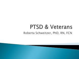 PTSD & Veterans