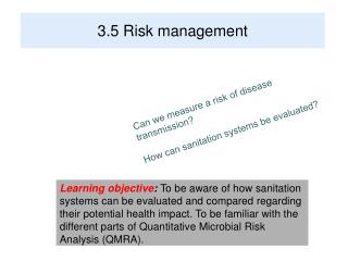 3.5 Risk management