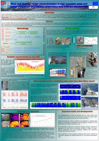 Rock wall thermal regime characterization in high mountain areas and  related permafrost degradation: preliminary data
