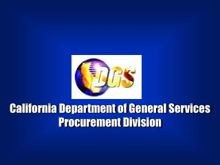 California Department of General Services Procurement Division