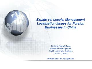 Expats vs. Locals, Management  Localization Issues for Foreign Businesses in China
