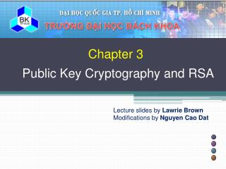 Chapter 3 Public Key Cryptography and RSA