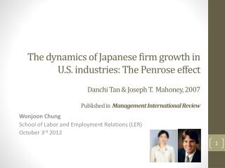 Wonjoon Chung School of Labor and Employment Relations (LER) October 3 rd  2012