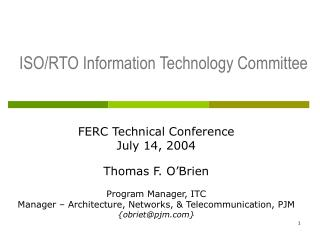 ISO/RTO Information Technology Committee