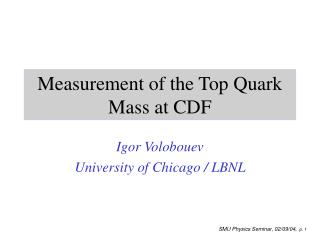 Measurement of the Top Quark Mass at CDF
