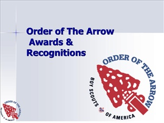 Order of The Arrow  Awards  Recognitions