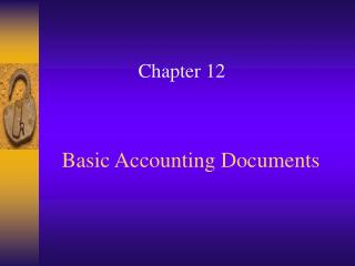 Basic Accounting Documents
