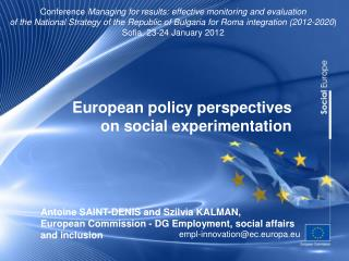 European policy perspectives on social experimentation