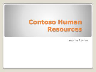 Contoso Human  Resources