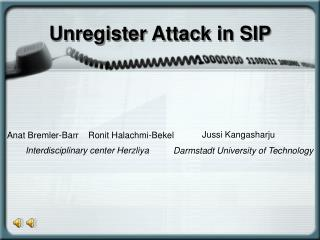 Unregister Attack in SIP