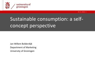 Sustainable consumption: a self-concept perspective