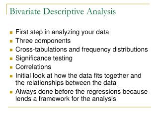 Bivariate Descriptive Analysis