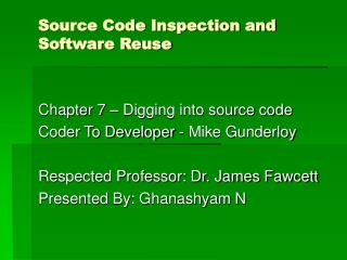 Source Code Inspection and Software Reuse