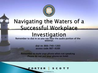 Navigating the Waters of a Successful Workplace Investigation