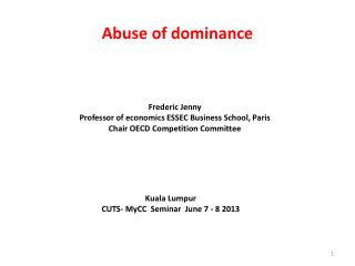 Abuse of dominance
