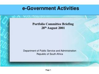 e-Government Activities