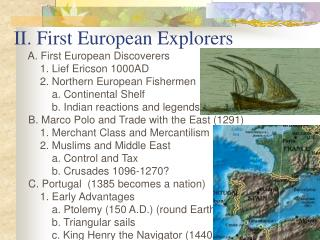 II. First European Explorers
