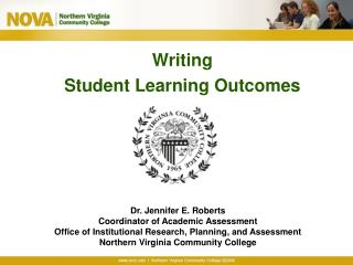 Writing Student Learning Outcomes