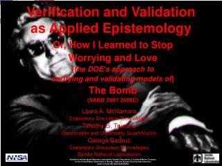 Verification and Validation as Applied Epistemology