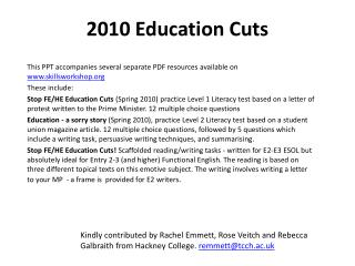 2010 Education Cuts