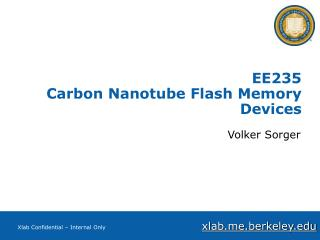 EE235 Carbon Nanotube Flash Memory Devices