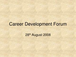 Career Development Forum