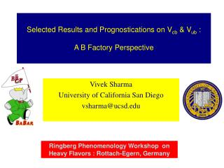 Selected Results and Prognostications on V cb  & V ub  :    A B Factory Perspective